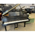 "Steinway M 5'7"" Ebony Satin Restored Grand Piano - Pre-owned"